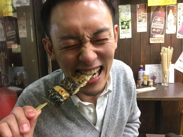 沖サバの塩焼き串 1本320円